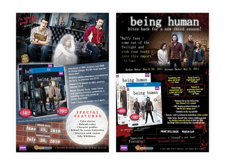 Being Human E-Announces for Seasons 1 & 3