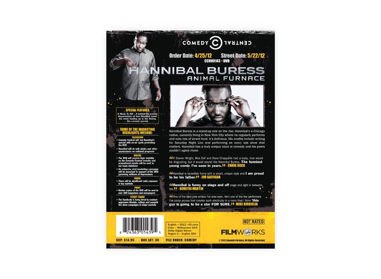 Hannibal Buress: Animal Furnace DVD DVD sellsheet