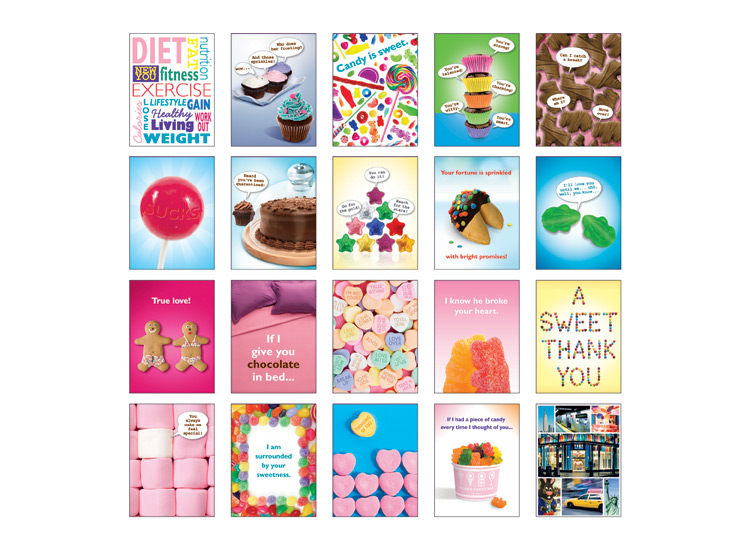 Dylan's Candy Bar Card Fronts